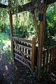 Black Lion High Roding, beer garden gate pergola, Essex, England 2.jpg
