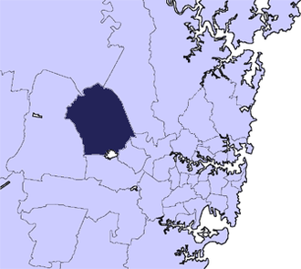 City of Blacktown - Location in Metropolitan Sydney