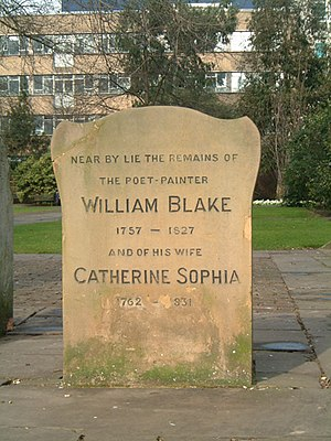 1827 in poetry - Gravestone of William Blake