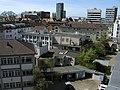 Blick über das Bundesamt für Strahlenschutz zum Hauptbahnhof in Freiburg.jpg