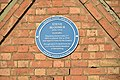 Blue Plaque commemorating the life of Steve Bloomer.jpg