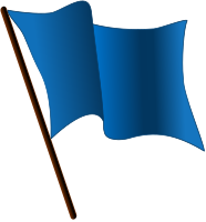 Blue flag waving.svg