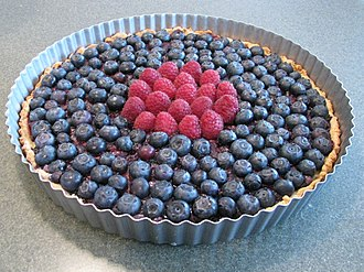 Tart - Image: Blueberry tart