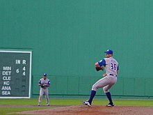b3fc3b31b42 Bob File pitching for the Blue Jays at Fenway Park during the 2001 season.
