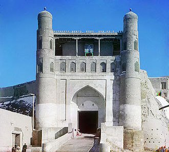 Ark of Bukhara - Entrance to the Ark fortress, photographed around 1907
