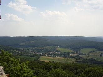 Borinka - Borinka from the Pajštún castle. Kamzík TV Tower can be seen on the horizon