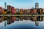Boston Back Bay reflection