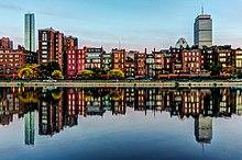 220px Boston Back Bay reflection