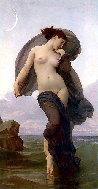 Evening Mood - Evening Mood William-Adolphe Bouguereau, 1882
