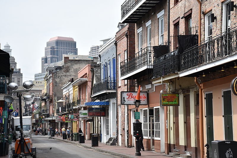 File:Bourbon Street, New Orleans from St Louis Street 2.JPG