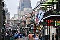 Bourbon Street, New Orleans from St Peter Street.JPG
