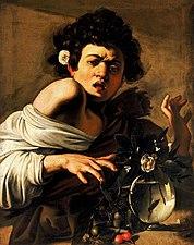 Boy Bitten by a Lizard-Caravaggio (Longhi)