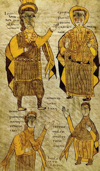 Manuscrito del Breviario de Alarico conservado en Clermont-Ferrand (siglo X).