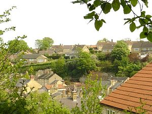 Bramham, West Yorkshire - Part of Bramham as viewed from the western outskirts of the village near the A1.