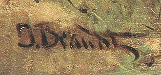 Józef Brandt - Image: Brandt Podpis