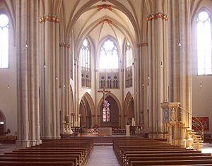 Aegidienkirche, Braunschweig - Nave and choir