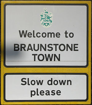Braunstone Town - Welcome sign