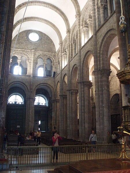 File brazo derecho del crucero de la catedral de santiago - Interior santiago de compostela ...