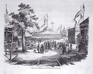 Schützenfest - The Bremen Marksmen's and People's Festival (1846, wood-engraving from the Illustrirte Zeitung).
