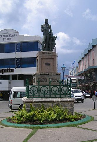 History of Barbados - Statue of Lord Nelson in National Heroes Square which predates the more famous Nelson's Column by some 27 years.
