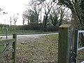 Bridleway gate entrance from Horn Lane - geograph.org.uk - 1218115.jpg