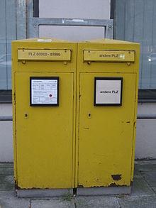 Berühmt Postbriefkasten (Deutschland) – Wikipedia CI77