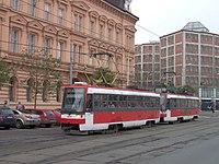 Souprava vozů Tatra T3RF v Brně