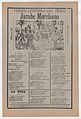Broadsheet with songs for a Mexican courtship dance called the 'Jarabe Moreliano', crowd of people interacting with one another while muscians play in the background MET DP868550.jpg