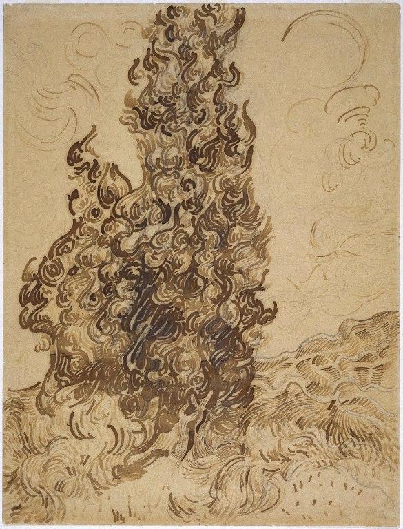 Brooklyn Museum - Cypresses (Les Cyprès) - Vincent van Gogh