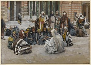 Jesus Speaks Near the Treasury