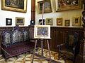 Bucuresti, Romania. Muzeul Theodor Aman (atelierul pictorului; coltul cu sevalet, detaliu 2) B-II-m-A-19621.JPG