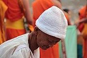 Buddhist nun at Bun Vat Phu Festival, Champasak, Laos