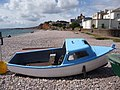 Budleigh Salterton, a blue and white boat - geograph.org.uk - 1477253.jpg