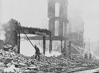 Bull Ring, Birmingham - Destruction of the Bull Ring in the Birmingham Blitz in 1940
