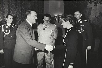 Hanna Reitsch - Adolf Hitler awards Hanna Reitsch the Iron Cross 2nd Class in March 1941