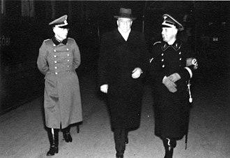 Heinrich Müller (Gestapo) - Berlin February 1939: Maj. v. Schweinichen;, Dr. Boor; Müller