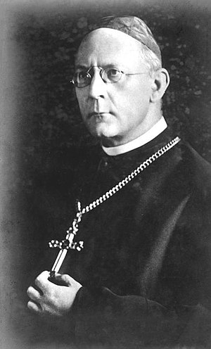 Reorganization of occupied dioceses during World War II - Cardinal Adolf Bertram, whom Orsenigo made apostolic administrator for Catholic parishes in Zaolzie.