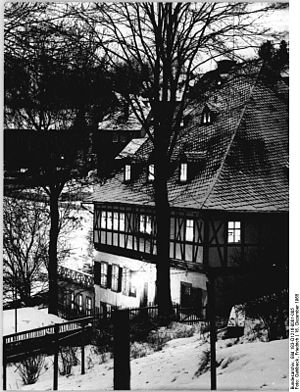 Frohnauer Hammer - The mansion of the Frohnauer Hammer Mill in 1965