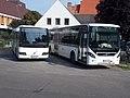 Bus Station, Volvo buses (NWX-381) and (MXU-936), 2019 Szentes.jpg