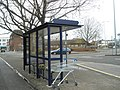 Bus stop by Commercial Road roundabout - geograph.org.uk - 657938.jpg