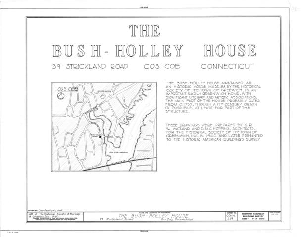 file bush holley house 39 strickland road cos cob. Black Bedroom Furniture Sets. Home Design Ideas