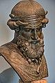Bust Priapus Bronze Roman 100BCE Museo Archeologico Nazionale Naples found in the Villa di Papiri 1.jpg
