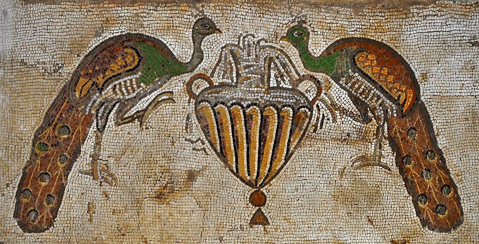 Byzantine church in Nahariya - Peacocks Mosaic