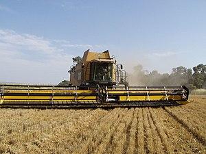 CAT combine harvester
