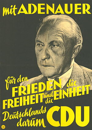 West German federal election, 1949 - CDU election poster