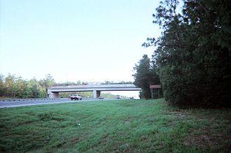 Interstate 75 in Florida - The Cross Florida Greenway bridge over I-75