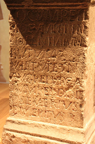 Religio - Dedication from Roman Britain announcing that a local official has restored a locus religiosus