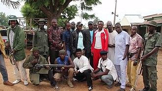 Boko Haram insurgency - Civilian Joint Task Force fighters of Michika in 2016