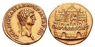 Praetorian Guard - Image: CLAUDIUS RIC I 25 792104
