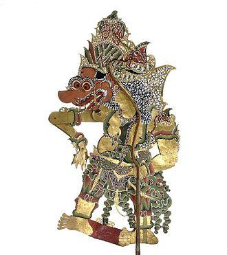 Batara Kala - A Wayang figure of Batara Kala.